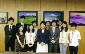 現役大学生、副大臣室に来訪。