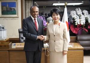 シンガポール外務大臣兼法務大臣来訪