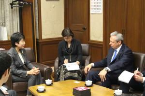 駐日欧州連合大使来訪