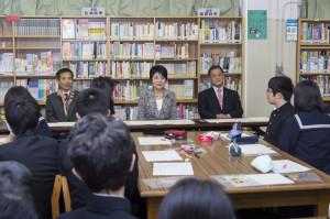 法教育の現場を視察(台東区立上野中学校)