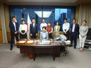 総務副大臣秘書室の皆さん、お世話になりました。