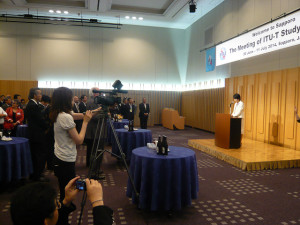 ITU-T SG16札幌会合での挨拶及び岩見沢市視察